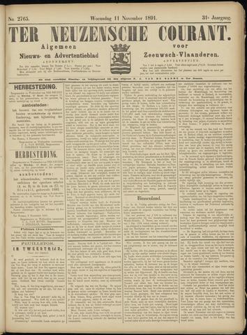 Ter Neuzensche Courant. Algemeen Nieuws- en Advertentieblad voor Zeeuwsch-Vlaanderen / Neuzensche Courant ... (idem) / (Algemeen) nieuws en advertentieblad voor Zeeuwsch-Vlaanderen 1891-11-11