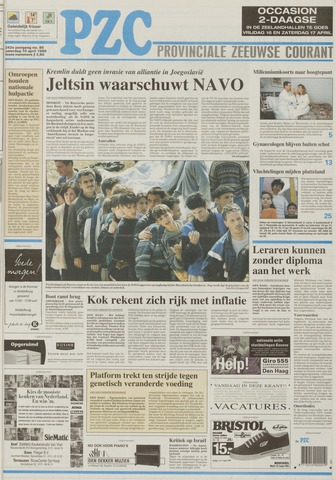 Provinciale Zeeuwse Courant 1999-04-10