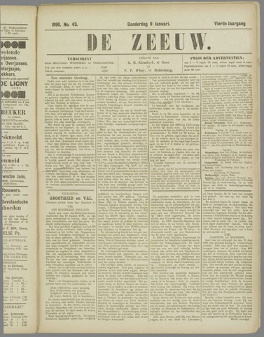 De Zeeuw. Christelijk-historisch nieuwsblad voor Zeeland 1890-01-09
