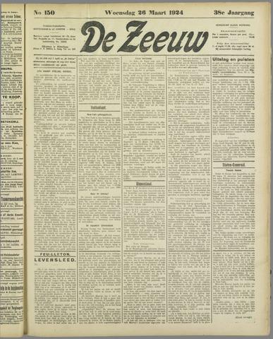 De Zeeuw. Christelijk-historisch nieuwsblad voor Zeeland 1924-03-26
