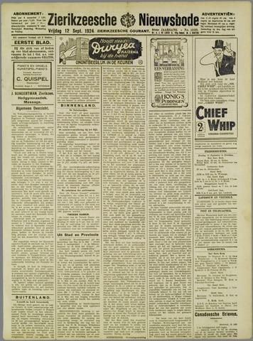 Zierikzeesche Nieuwsbode 1924-09-12