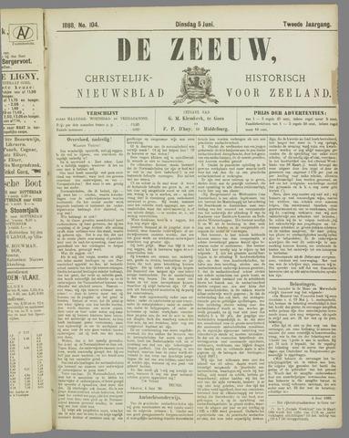De Zeeuw. Christelijk-historisch nieuwsblad voor Zeeland 1888-06-05