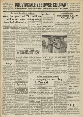 Provinciale Zeeuwse Courant 1951-01-16