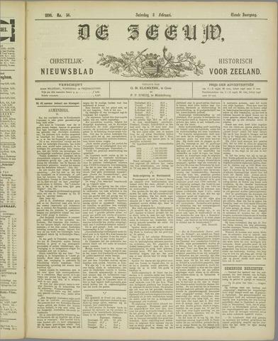 De Zeeuw. Christelijk-historisch nieuwsblad voor Zeeland 1896-02-08