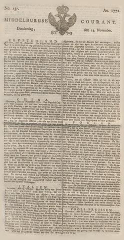 Middelburgsche Courant 1771-11-14