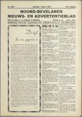 Noord-Bevelands Nieuws- en advertentieblad 1949