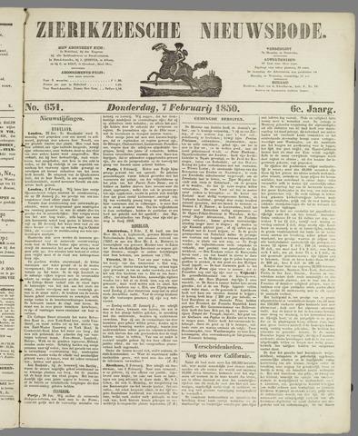 Zierikzeesche Nieuwsbode 1850-02-07