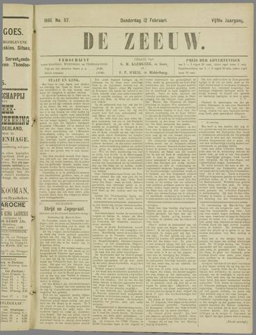 De Zeeuw. Christelijk-historisch nieuwsblad voor Zeeland 1891-02-12