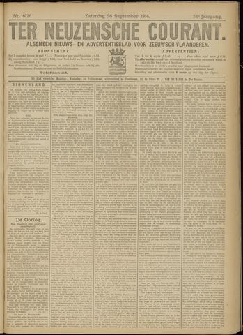 Ter Neuzensche Courant. Algemeen Nieuws- en Advertentieblad voor Zeeuwsch-Vlaanderen / Neuzensche Courant ... (idem) / (Algemeen) nieuws en advertentieblad voor Zeeuwsch-Vlaanderen 1914-09-26