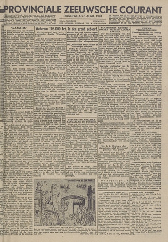 Provinciale Zeeuwse Courant 1943-04-08