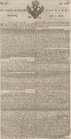 Middelburgsche Courant 1768-04-21