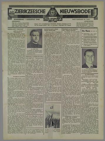 Zierikzeesche Nieuwsbode 1940-08-01