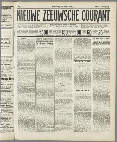 Nieuwe Zeeuwsche Courant 1915-06-19