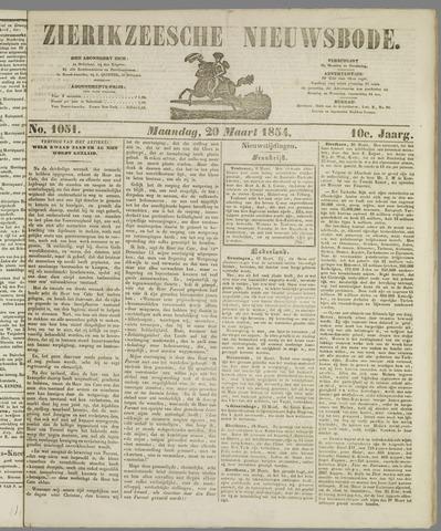 Zierikzeesche Nieuwsbode 1854-03-20
