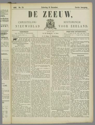 De Zeeuw. Christelijk-historisch nieuwsblad voor Zeeland 1886-12-18