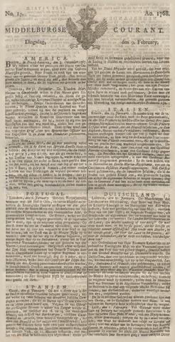Middelburgsche Courant 1768-02-09