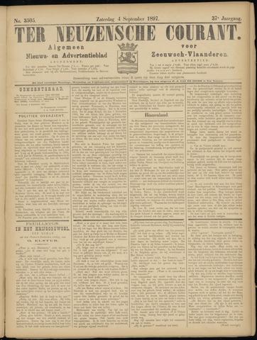 Ter Neuzensche Courant. Algemeen Nieuws- en Advertentieblad voor Zeeuwsch-Vlaanderen / Neuzensche Courant ... (idem) / (Algemeen) nieuws en advertentieblad voor Zeeuwsch-Vlaanderen 1897-09-04