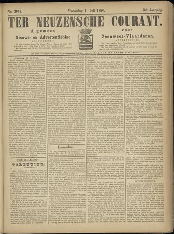 Ter Neuzensche Courant. Algemeen Nieuws- en Advertentieblad voor Zeeuwsch-Vlaanderen / Neuzensche Courant ... (idem) / (Algemeen) nieuws en advertentieblad voor Zeeuwsch-Vlaanderen 1894-07-11