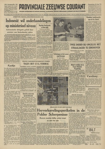 Provinciale Zeeuwse Courant 1954-06-10