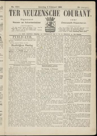 Ter Neuzensche Courant. Algemeen Nieuws- en Advertentieblad voor Zeeuwsch-Vlaanderen / Neuzensche Courant ... (idem) / (Algemeen) nieuws en advertentieblad voor Zeeuwsch-Vlaanderen 1881-02-05