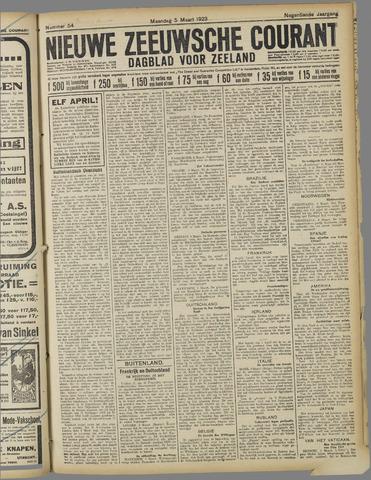 Nieuwe Zeeuwsche Courant 1923-03-05