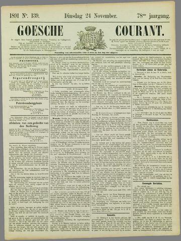 Goessche Courant 1891-11-24