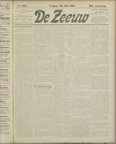 De Zeeuw. Christelijk-historisch nieuwsblad voor Zeeland 1915-07-30