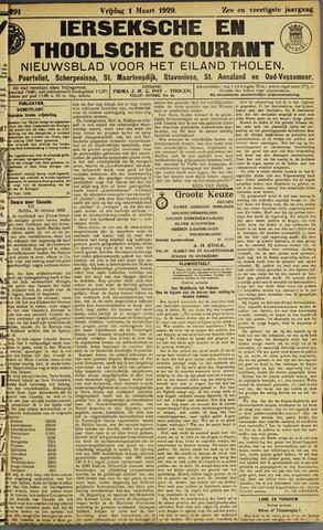 Ierseksche en Thoolsche Courant 1929-03-01