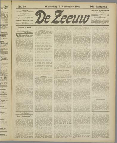 De Zeeuw. Christelijk-historisch nieuwsblad voor Zeeland 1915-11-03