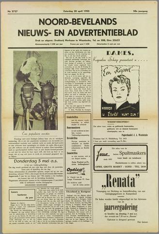 Noord-Bevelands Nieuws- en advertentieblad 1955-04-30