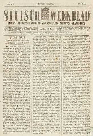 Sluisch Weekblad. Nieuws- en advertentieblad voor Westelijk Zeeuwsch-Vlaanderen 1866-06-15