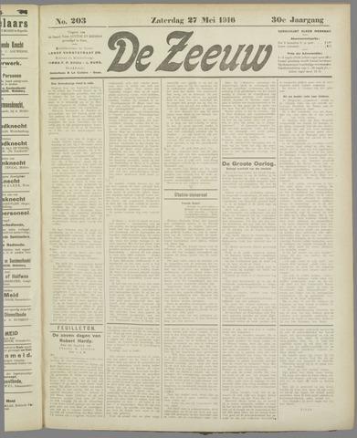 De Zeeuw. Christelijk-historisch nieuwsblad voor Zeeland 1916-05-27