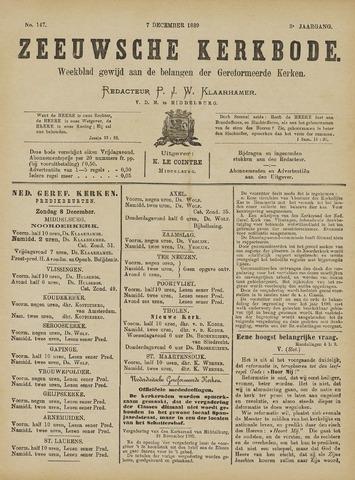 Zeeuwsche kerkbode, weekblad gewijd aan de belangen der gereformeerde kerken/ Zeeuwsch kerkblad 1889-12-07
