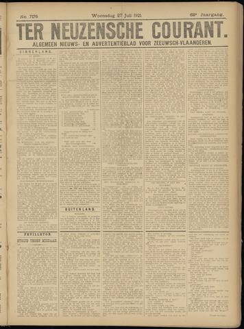Ter Neuzensche Courant. Algemeen Nieuws- en Advertentieblad voor Zeeuwsch-Vlaanderen / Neuzensche Courant ... (idem) / (Algemeen) nieuws en advertentieblad voor Zeeuwsch-Vlaanderen 1921-07-27
