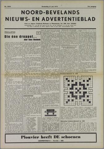 Noord-Bevelands Nieuws- en advertentieblad 1973-06-21