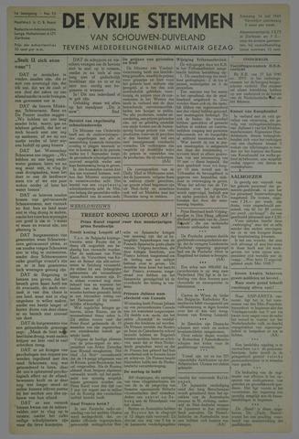 Vrije Stemmen van Schouwen-Duiveland, tevens mededeelingenblad Militair Gezag 1945-07-14