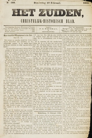 Het Zuiden, Christelijk-historisch blad 1880-02-19