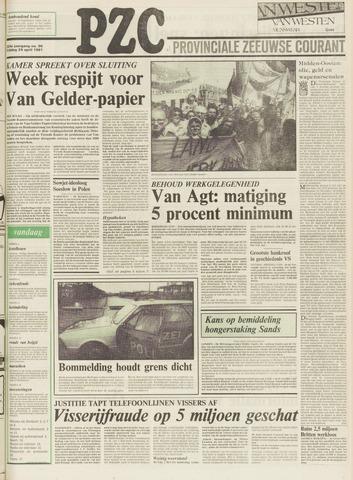 Provinciale Zeeuwse Courant 1981-04-24