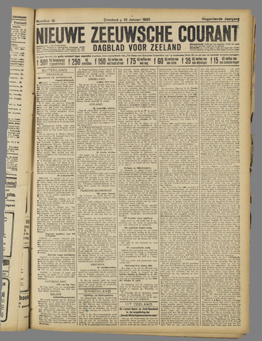 Nieuwe Zeeuwsche Courant 1923-01-18