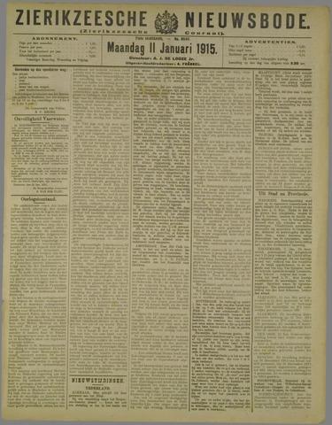 Zierikzeesche Nieuwsbode 1915-01-11