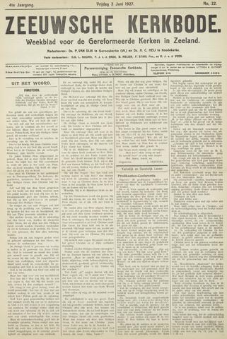 Zeeuwsche kerkbode, weekblad gewijd aan de belangen der gereformeerde kerken/ Zeeuwsch kerkblad 1927-06-03