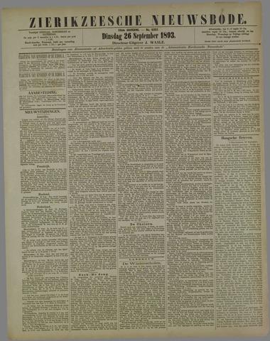 Zierikzeesche Nieuwsbode 1893-09-26