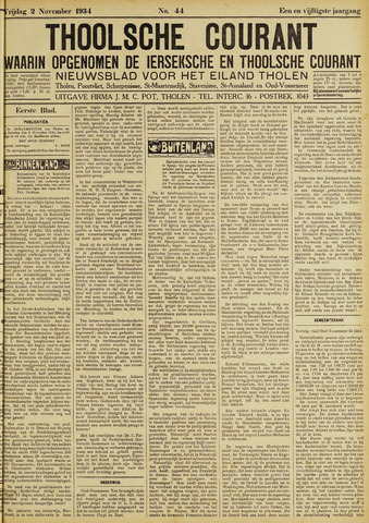 Ierseksche en Thoolsche Courant 1934-11-02