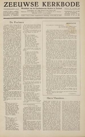 Zeeuwsche kerkbode, weekblad gewijd aan de belangen der gereformeerde kerken/ Zeeuwsch kerkblad 1959-01-30