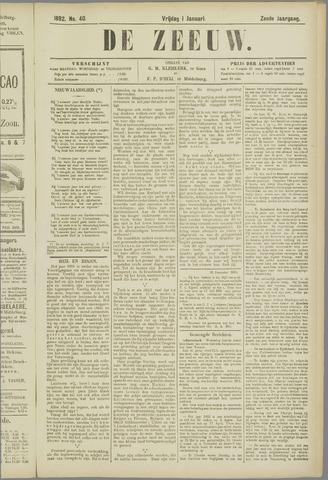 De Zeeuw. Christelijk-historisch nieuwsblad voor Zeeland 1892