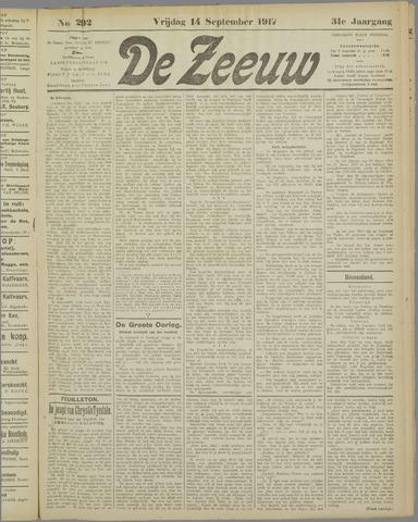 De Zeeuw. Christelijk-historisch nieuwsblad voor Zeeland 1917-09-14