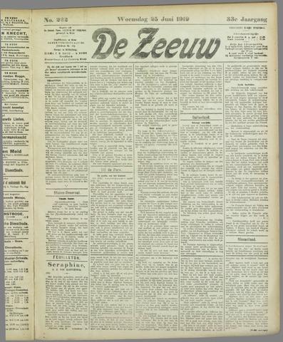 De Zeeuw. Christelijk-historisch nieuwsblad voor Zeeland 1919-06-25