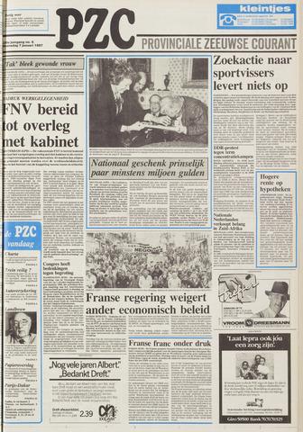 Provinciale Zeeuwse Courant 1987-01-07