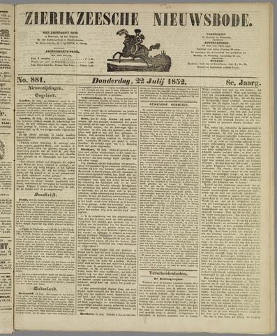Zierikzeesche Nieuwsbode 1852-07-22