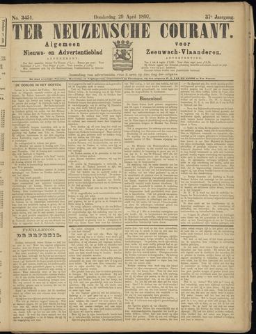 Ter Neuzensche Courant. Algemeen Nieuws- en Advertentieblad voor Zeeuwsch-Vlaanderen / Neuzensche Courant ... (idem) / (Algemeen) nieuws en advertentieblad voor Zeeuwsch-Vlaanderen 1897-04-29